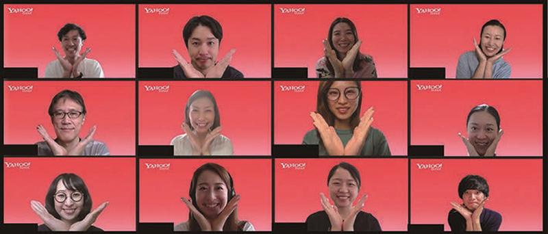 コーポレートグループPD統括本部 ビジネスパートナーPD本部 組織・人財開発部のみなさん。発表者は秋橋仁美さん(左から2列目中央)